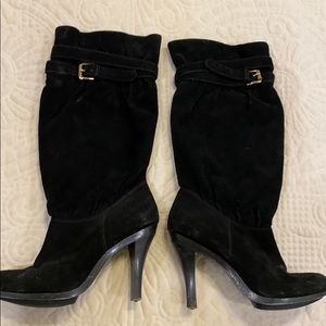 Michael kors black boots with buckle
